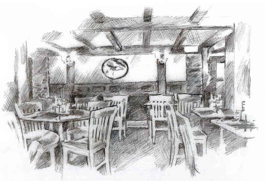Inside Bill's Olde Tavern Sketch